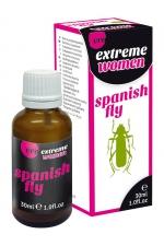 Aphrodisiaque Spanish Fly extrême femme - Ero : Aphrodisiaque naturel aux effets puissants permettant de décupler la libido féminine.