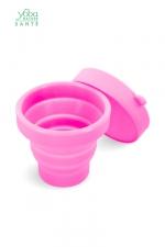 Boite de stérilisation et rangement Yoba Nature : Boite de stérilisation et de rangement pliable pour coupe menstruelle Yoba Nature, 100% silicone Premium.