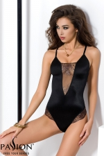 Body Brida  : Body lingerie noir scintillant, souligné de tulle transparent aux riches broderies.