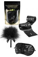 Set Instruments de Plaisir - Vert : Un pack de 3 accessoires coquins niveau Vert proposé par Bijoux Indiscrets.