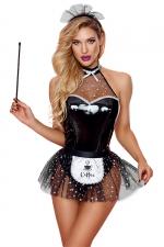 Déguisement sexy de soubrette - Paris Hollywood : Costume érotique de soubrette pour réaliser vos fantasmes les plus coquins !