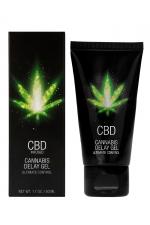 Gel retardant CBD Cannabis 50ml : Gel à base de CBD pour homme, permettant d'améliorer votre expérience sexuelle et de retarder l'orgasme.