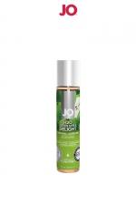 Lubrifiant aromatisé pomme 30 ml : Lubrifiant aromatisé comestible parfum pomme au format 30 ml de la marque Américaine System Jo.