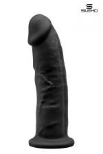 Gode double densité noir 23 cm - Modèle 2 : Gode réaliste noir de 22,5 cm et 5 cm de diamètre à double densité et mémoire de forme utilisant du silexpan pour des sensation plus réelles.