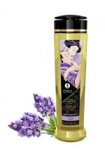 Huile de massage parfum lavande - Shunga : Huile de massage érotique Sensation à la lavande pour éveiller les sens et la réceptivité amoureuse, par Shunga.
