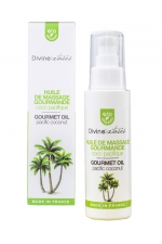Huile de massage Bio Coco Pacifique - Divinextases : Huile de massage érotique parfum Noix de coco, 100% bio, fabriquée en France par Divinextases.