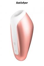 Stimulateur de clitoris Breeze cuivre - Satisfyer : Stimulateur clitoridien avec Technologie Air Pulse qui stimule le clitoris par ondes de pression et vibrations sans contact.
