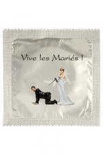 Préservatif humour - Vive Les Mariés : Préservatif Vive Les Mariés, un préservatif personnalisé humoristique de qualité, fabriqué en France, marque Callvin.