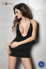 Robe Miracle - Noir : Robe courte moulante avec un profond décolleté sur la poitrine.